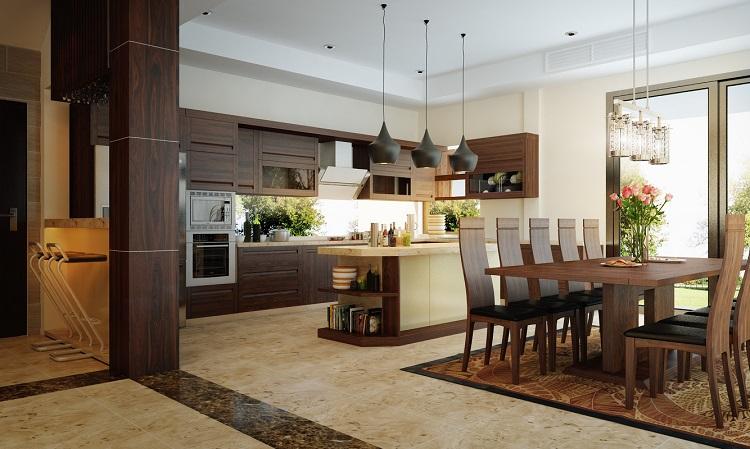 Đồ gỗ nội thất đẹp cho nhà bếp