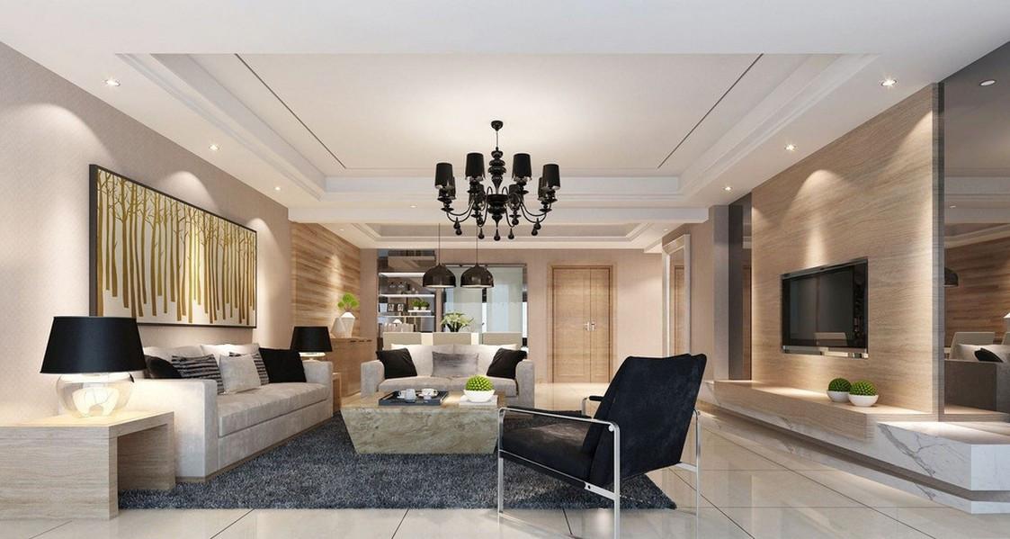 thiết kế nội thất phòng khách rộng