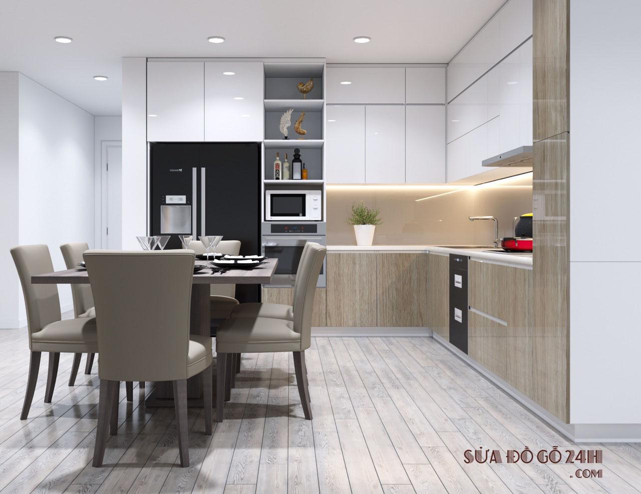 Thiết kế phòng bếp đẹp theo phong thủy