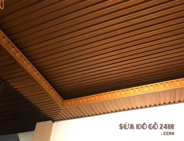 Ứng dụng làm trần nhà với gỗ nhựa