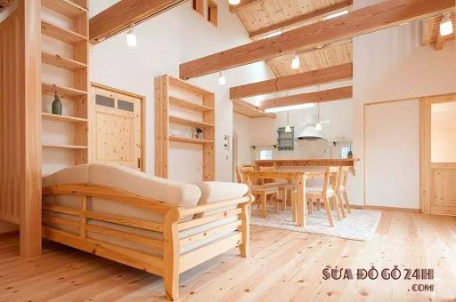 Nội thất làm bằng gỗ thông